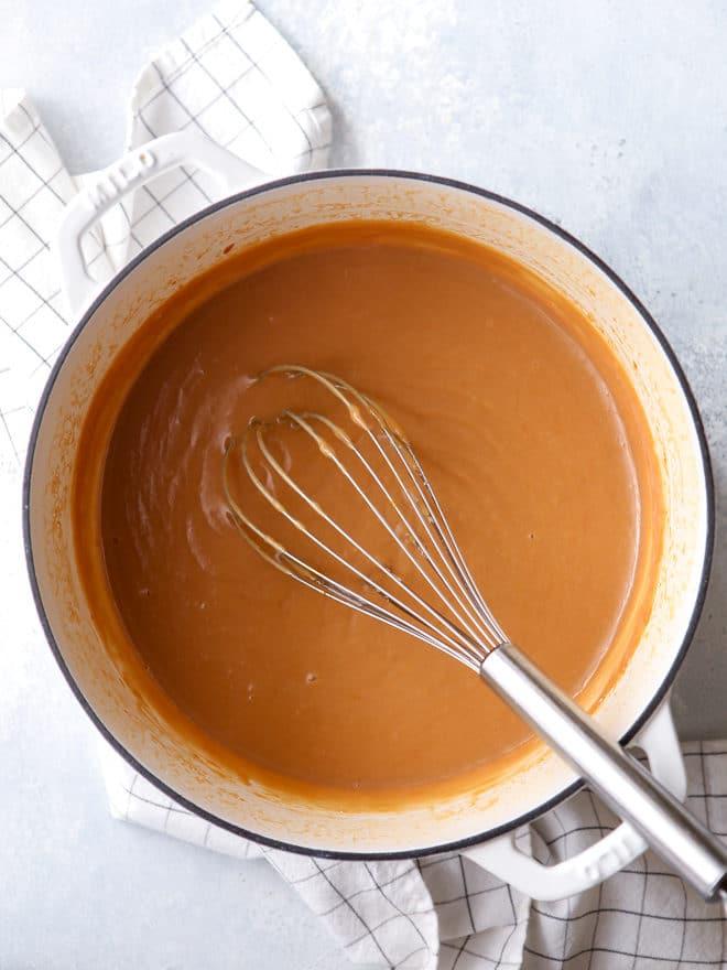 Creamy caramel pudding