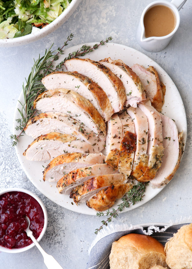 Make Thanksgiving a little easier with this herb roasted turkey breast
