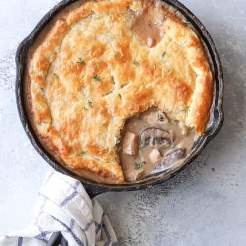 Turkey mushroom pie is the best way to use up leftover turkey