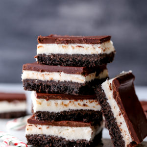 Chocolate peppermint bars are easy to make and so delicious!