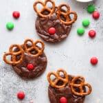 Make these fun rudolf brownie cookies this holiday season!