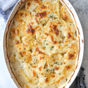 Super creamy and very flavorful scalloped potatoes are the ultimate side dish