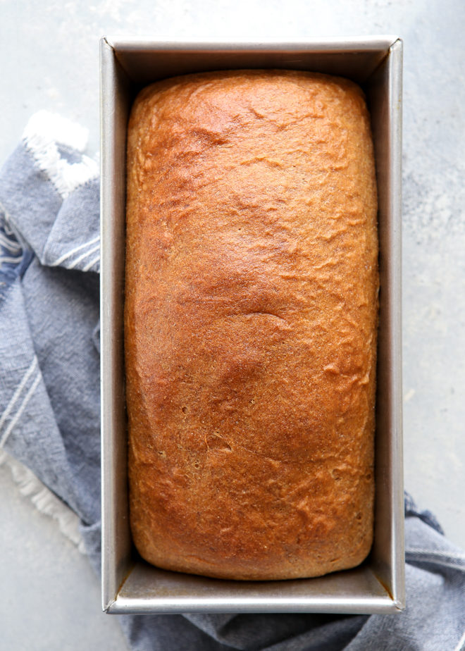 This 100% whole wheat bread is great for toast, sandwiches, and more.