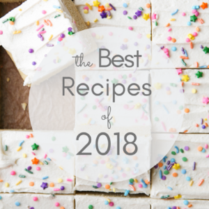The best recipes from 2018 on completelydelicious.com
