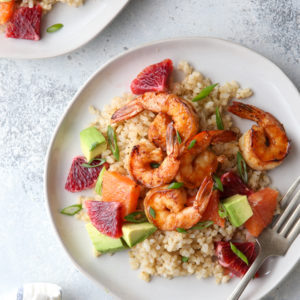 These citrus shrimp bowls are light and full of flavor