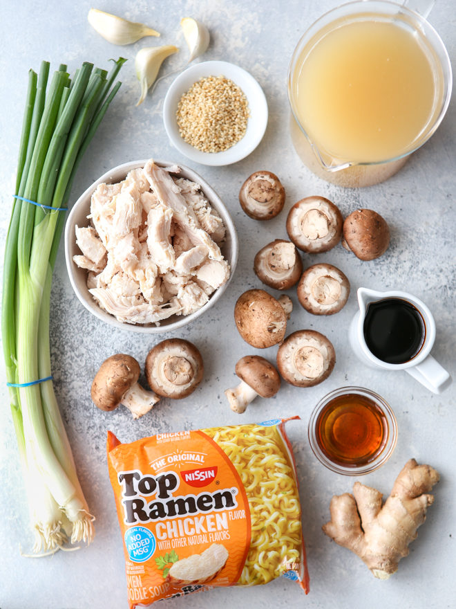 All you need to make easy chicken ramen soup at home