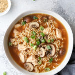 This is a quick and easy chicken ramen soup recipe for nights when you feel like staying in!