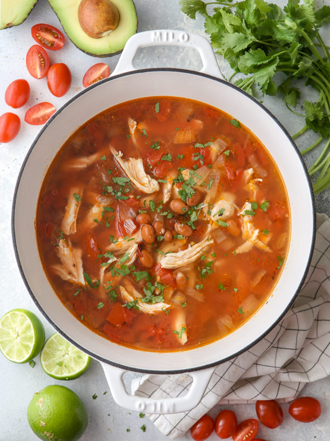 This chicken tortilla soup is easy to make and always a crowd pleaser!