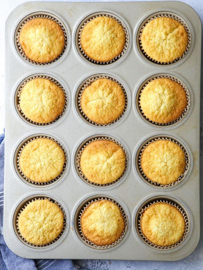 Delicate vanilla cupcakes