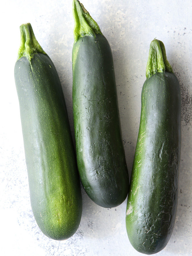 Imperfect zucchini are perfect for this recipe!