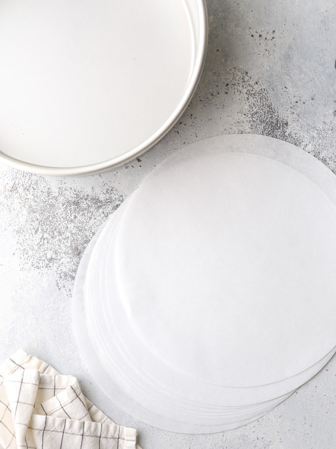 Always line cake pans with parchment paper