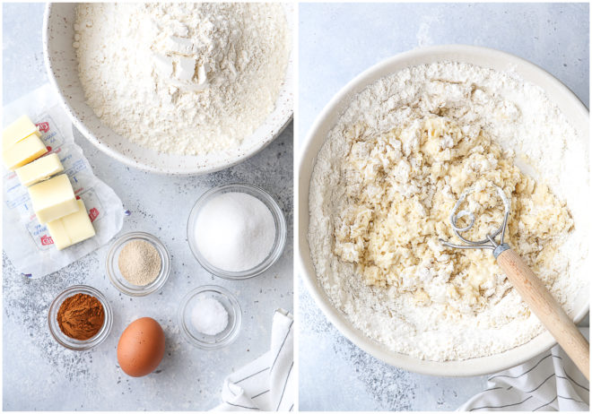ingredients needed for no-knead cinnamon rolls