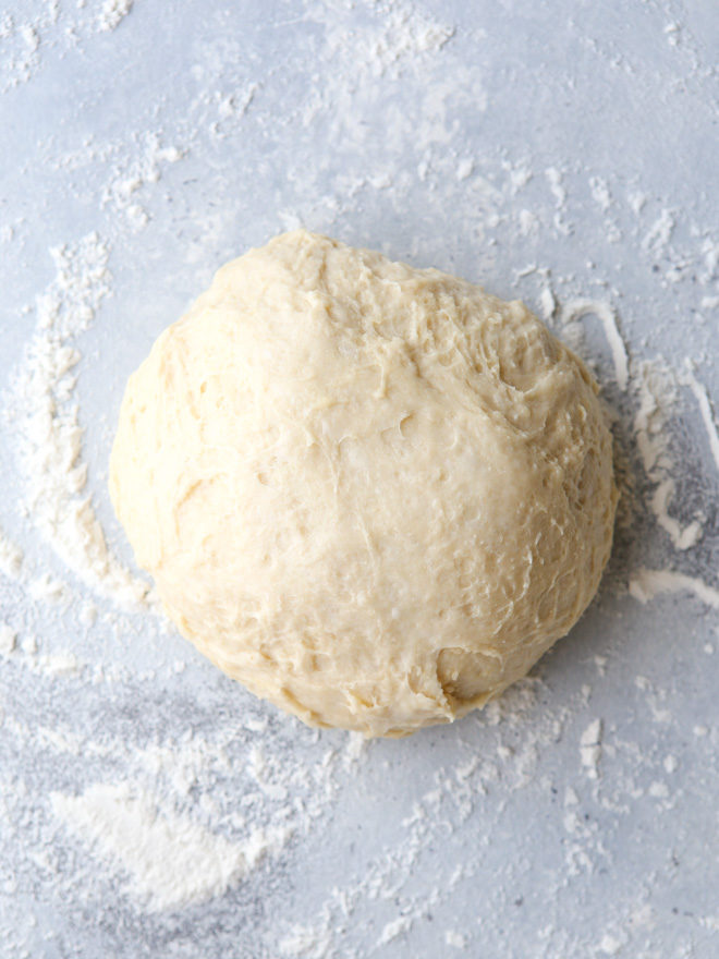 no-knead cinnamon roll dough