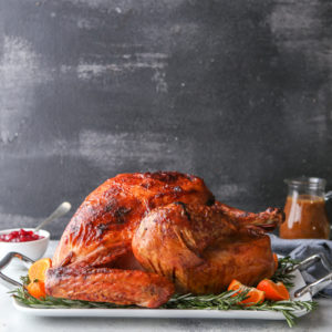 This dry-brined roasted turkey is the only turkey recipe you'll ever need! It's full of incredible flavor, it's super juicy, and is has the most beautiful crispy skin.