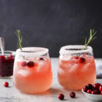 cranberry gin fizz cocktails ready for sipping