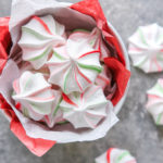 peppermint meringues in a bowl